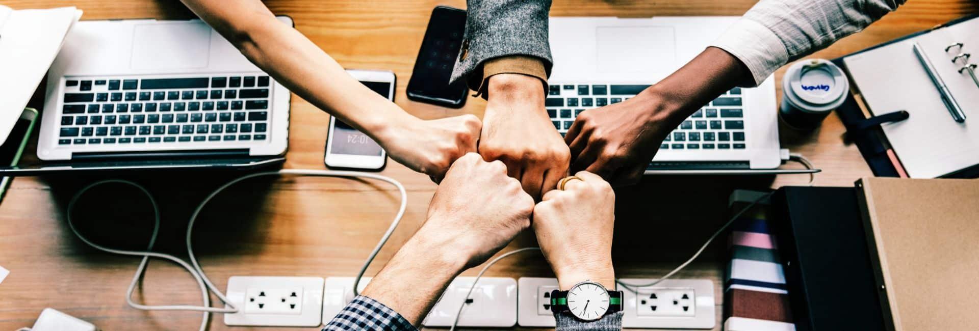 Tagung Hände zusammen Team