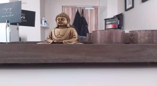 Schmuckbild Deko mit Buddhafigur