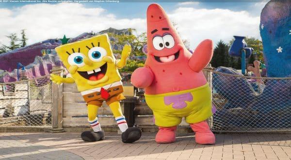 Spongebob und Patrick im Moviepark mit legalline 2021